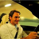 Roger Federer in een gloednieuwe SLS AMG Roadster