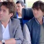 Nick en Simon in 'weekend vrij' reclame van NS
