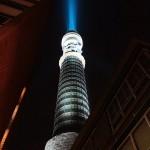 British Telecom Tower wordt één grote lightsaber