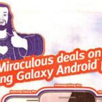 Knipogende Jezus verboden in Britse telefoonreclame