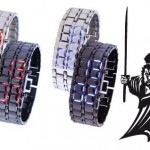 Samurai horloge met oplichtende LED lampjes