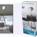 Design tri-pod staander theaterlamp van Grundig met 50% korting