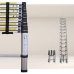 Telescopische ladder met lengte van 2,6 of 3,8 meter met 50% korting