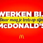 Is werken bij McDonald's iets om trots op te zijn?