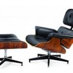 Exclusieve lounge chair en hocker gebaseerd op het design van Eames met 60% korting!