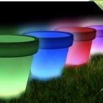 LED-bloempotten van objet moderne op zonne-energie met minimaal 50% korting