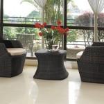 Een designer tuinset van Hal01 in wit, donkerbruin of zwart met 58% korting