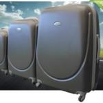 3-Delige kofferset van Dimass met hardschalige buitenkant en zwenkwieltjes met 59% korting