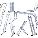 Een multifunctionele aluminium 8-in-1 ladder met 3 scharnierpunten met 51% korting