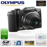 Een Olympus 16MP en FullHD camera met dual-engine TruePic III+ beeldprocessors en 24x optische groothoekzoom met € 160 korting
