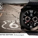 """Een Limited Edition ROUTE 66 """"Chicago"""" horloge met gegraveerd serienummer met 67% korting"""