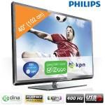 Een Philips 40PFL5007H/12 40 inch Full HD LED Smart TV met USB-opname, 400 Hz en ingebouwde WiFi met € 250 korting