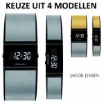 4 verschillende Jacob Jensen Digitale Design horloges van titanium met 76% korting