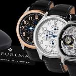 Een keuze uit 2 modellen (Jumbo en Toulouse) mechanische horloges van Theorema met 75 korting