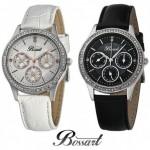 Een Bossart Glam horloge met zirkonia's, BW-1001-SW of BW-1001-SS met 67% korting