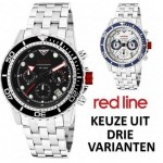 Red Line Piston Chronograph RL-50034-11, RL-50034-22-BL-BZ of RL-50034-55-RD-BZ herenhorloge.