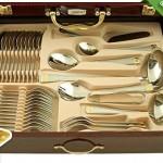 72-delige luxe Muller Cuisine bestekset Aachen Gold met 70% korting!