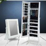 Sieradenkast met spiegel (wit of zwart) om al je juwelen netjes in op te ruimen