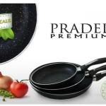 3 pannen met stenen coating van Pradel Premium