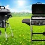 4 verschillende KOOKI gas- of koolbarbecues met gratis accesoireset