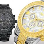 JBW-horloges mannen, roestvrij staal, met 0,8-karaats diamanten in model naar keuze